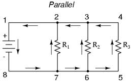 resistances in parallel connection