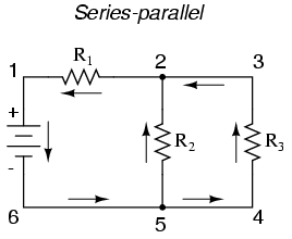 series parallel combination of resistances